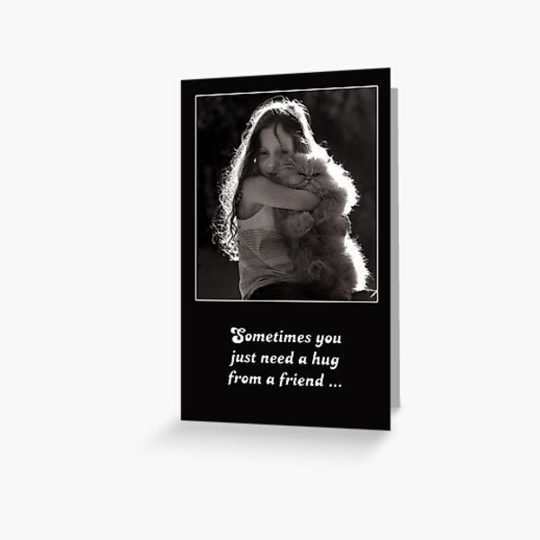 Sometimes you just need a hug from a friend ... Greeting Card