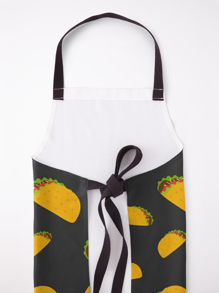 Alternate view of Cool and fun yummy taco pattern Apron