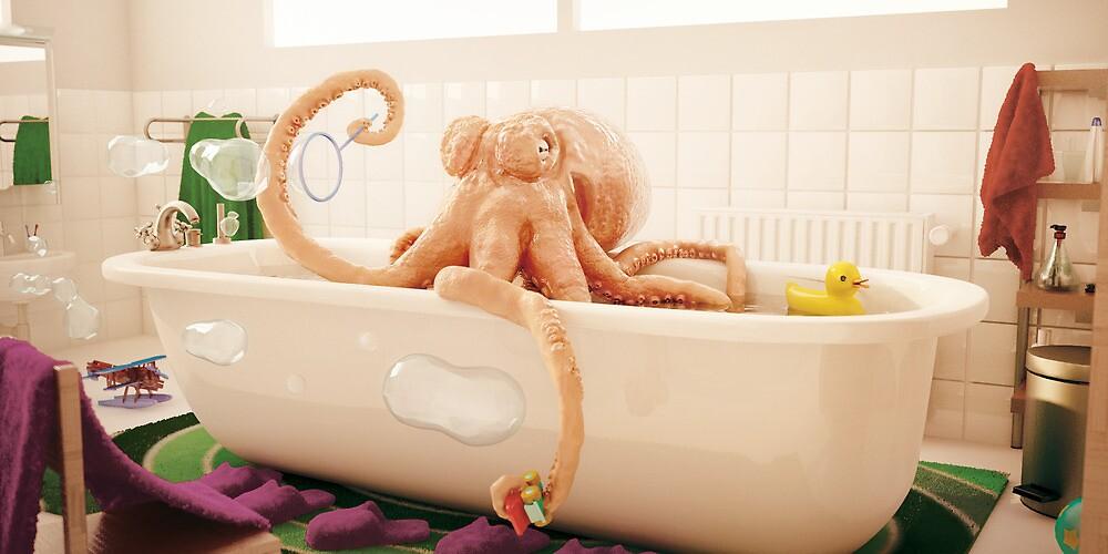 Octopus Bath by modernagestudio