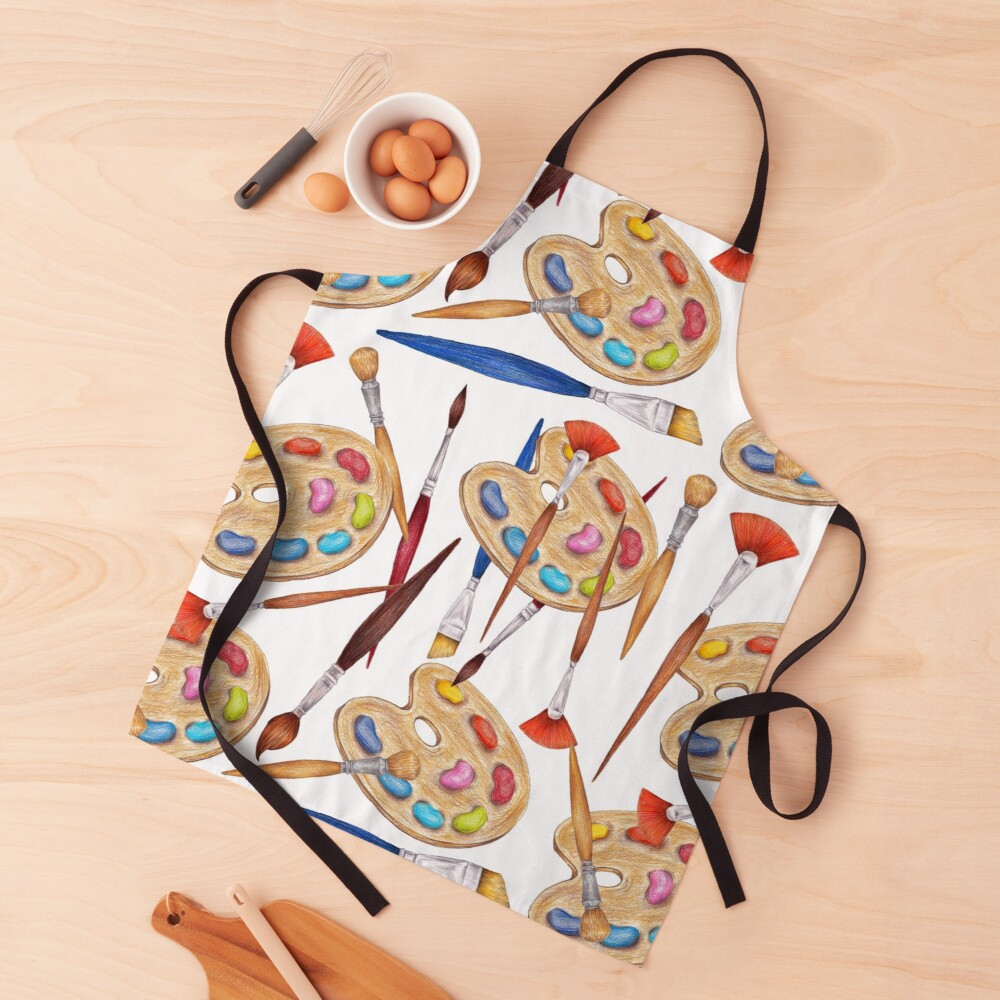pattern palette with brushes Apron