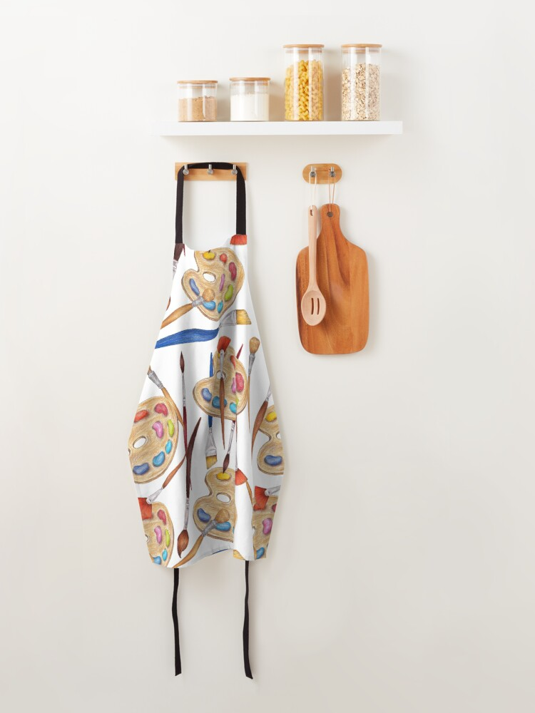Alternate view of pattern palette with brushes Apron