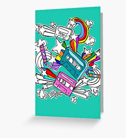I'd Like to Spend The  Day Colouring with Crayons Greeting Card