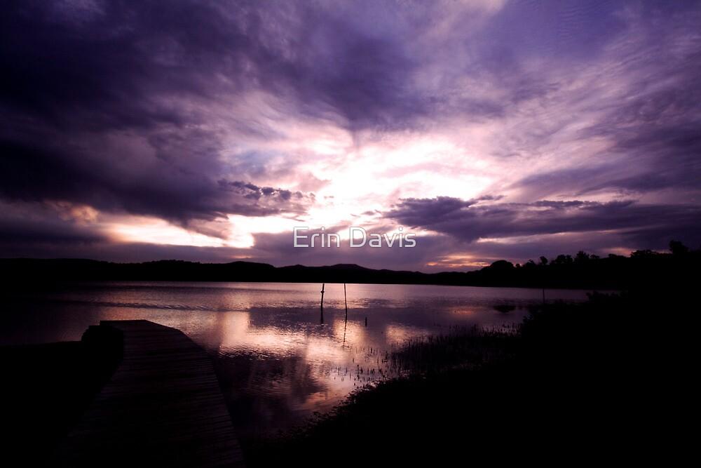 Merimbula Lake Dusk Reflections No. 1 by Erin Davis