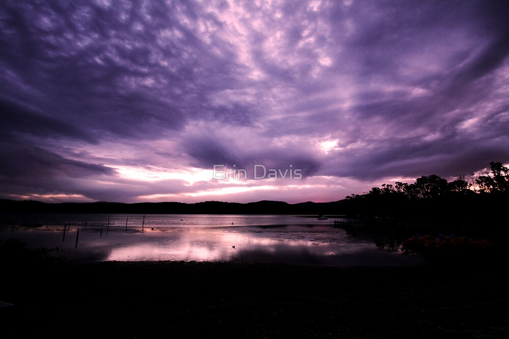 Merimbula Lake Dusk Reflections No. 3 by Erin Davis