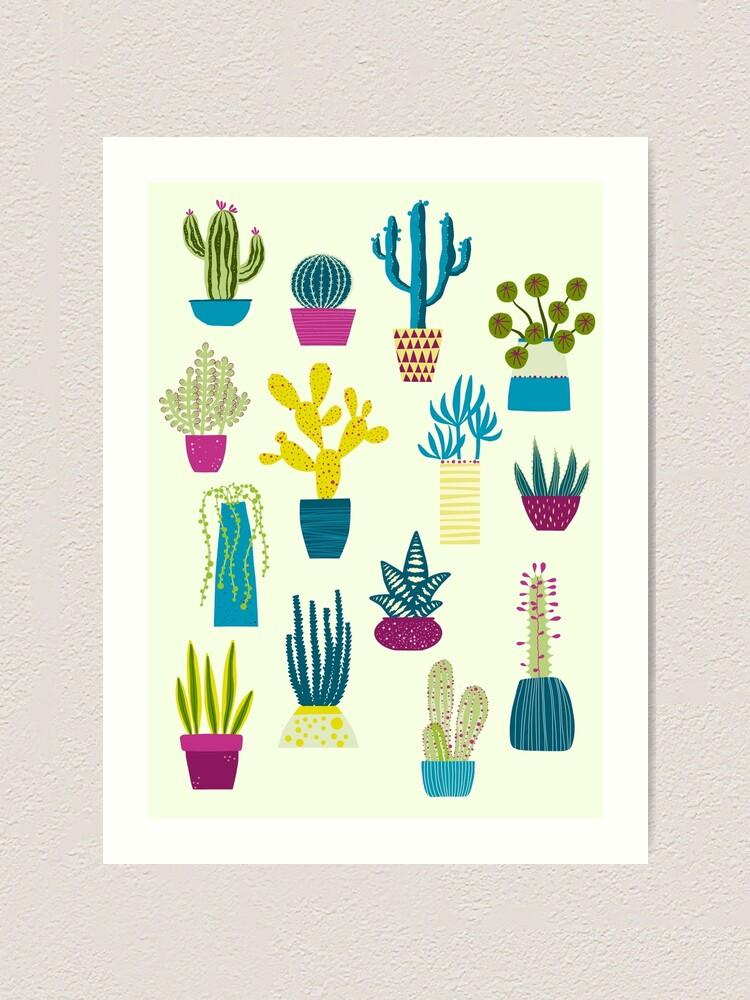 Alternate view of Cactus Garden Art Print