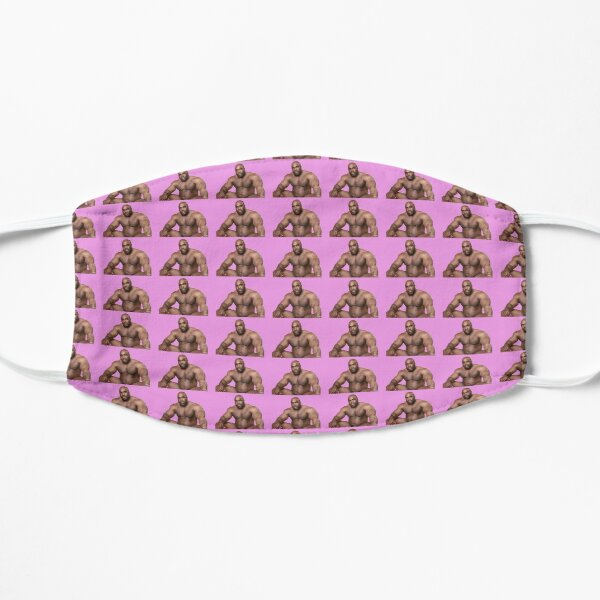 Barry Wood sitting on bed Hot Pink Background Mask