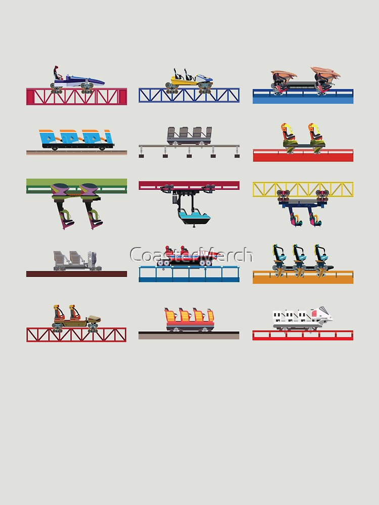 Cedar Point Coaster Cars Design by CoasterMerch