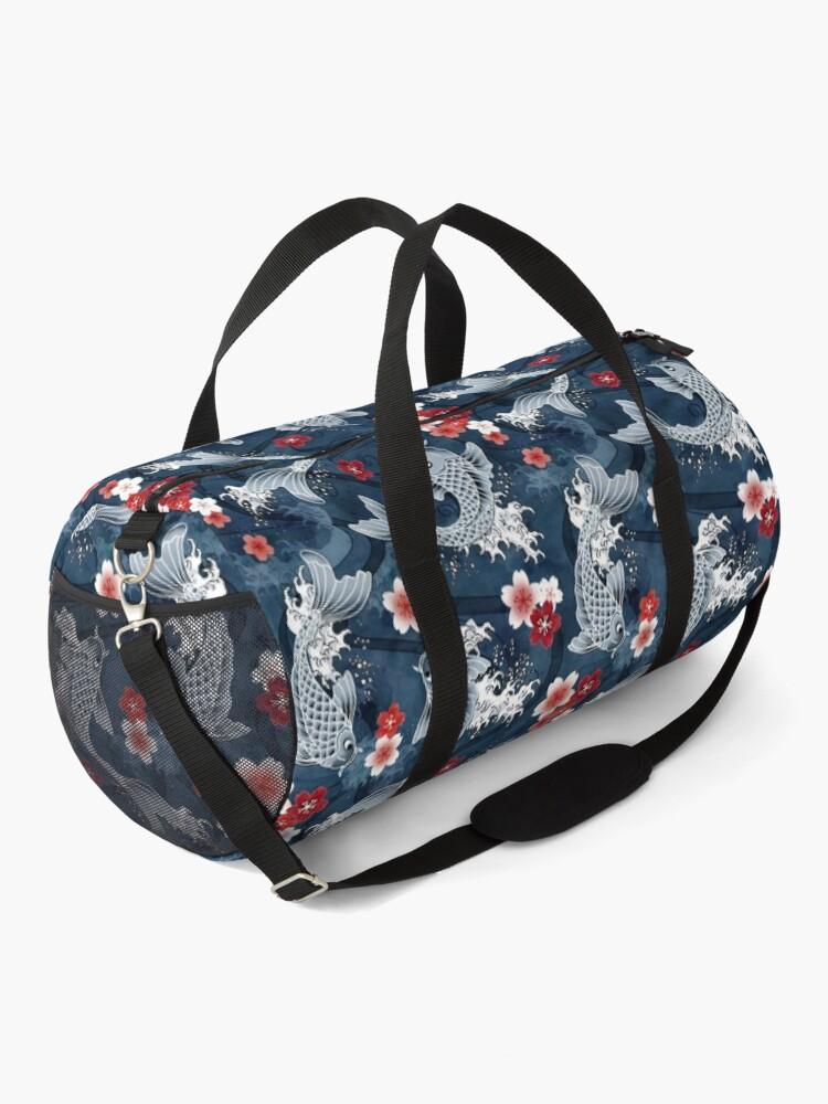 Alternate view of Koi sakura blossom in blue Duffle Bag