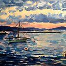 Vermont Sail Boats  by Caroline  Hajjar Duggan