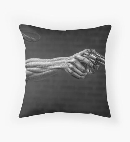 The Strong Arm Of The Law Throw Pillow