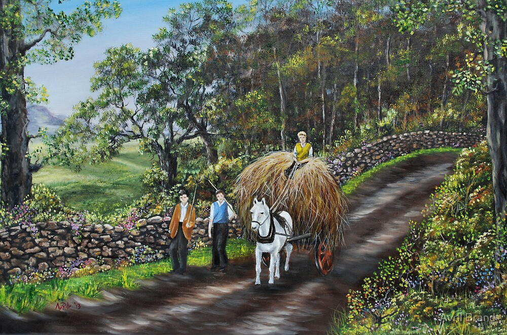 Bringing Home the Hay - Oil Painting by Avril Brand