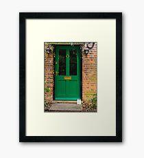 The Green Door England Framed Print