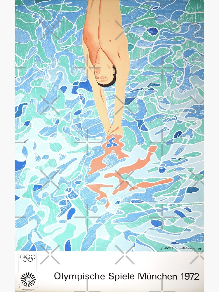 Munich Olympic Diver Poster by David Hockney - 1972 by franciscouto
