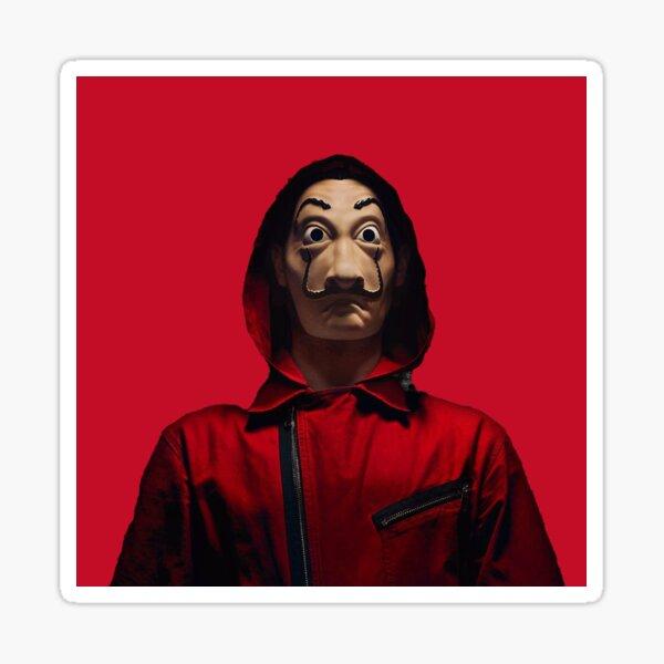 Money Heist RED background Sticker