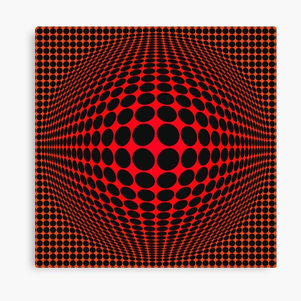 Victor Vasarely Homage 123 Impression sur toile