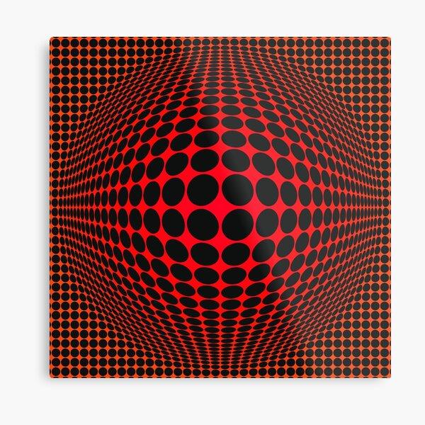 Victor Vasarely Homage 123 Impression métallique