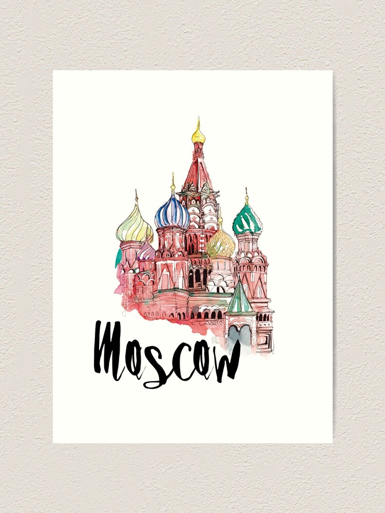 Alternate view of Moscow Art Print