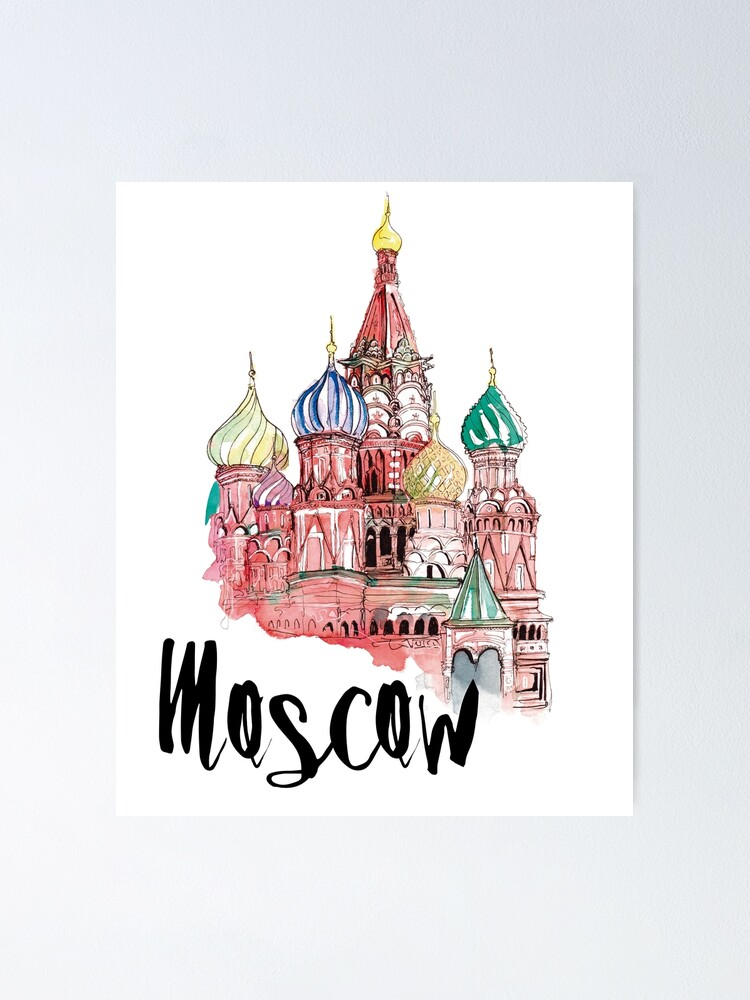 Alternate view of Moscow Poster