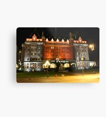 The Fairmont Empress Hotel Metal Print