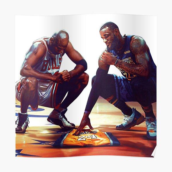 Jordan et LeBron honorent Kobe Poster