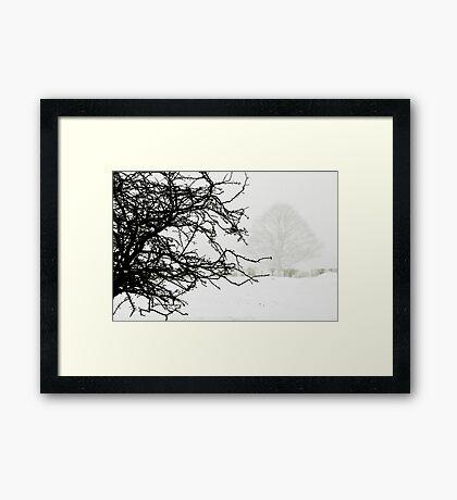 Impending blizzard Framed Print