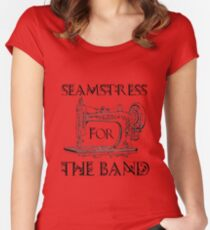 Seamstress for the band Women's Fitted Scoop T-Shirt