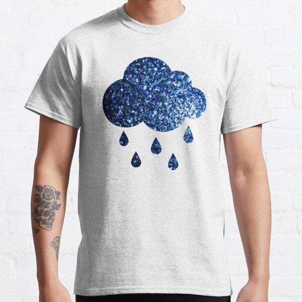 Beautiful Dark Blue glitter sparkles Classic T-Shirt