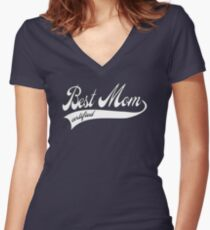 Best mom certified - Mother's day Women's Fitted V-Neck T-Shirt