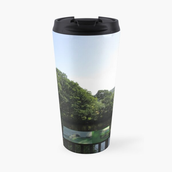 Merch #93 -- Chesters Bridge Board - Distant Shot (Hadrian's Wall) Travel Mug