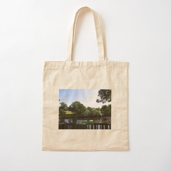 Merch #93 -- Chesters Bridge Board - Distant Shot (Hadrian's Wall) Cotton Tote Bag