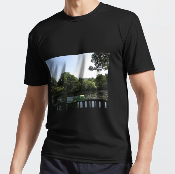 Merch #93 -- Chesters Bridge Board - Distant Shot (Hadrian's Wall) Active T-Shirt