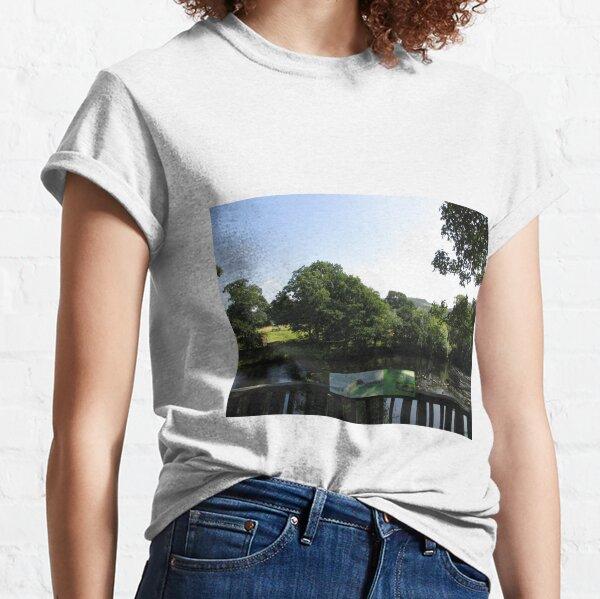 Merch #93 -- Chesters Bridge Board - Distant Shot (Hadrian's Wall) Classic T-Shirt