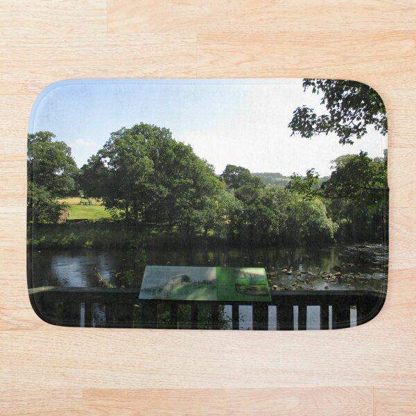 Merch #93 -- Chesters Bridge Board - Distant Shot (Hadrian's Wall) Bath Mat