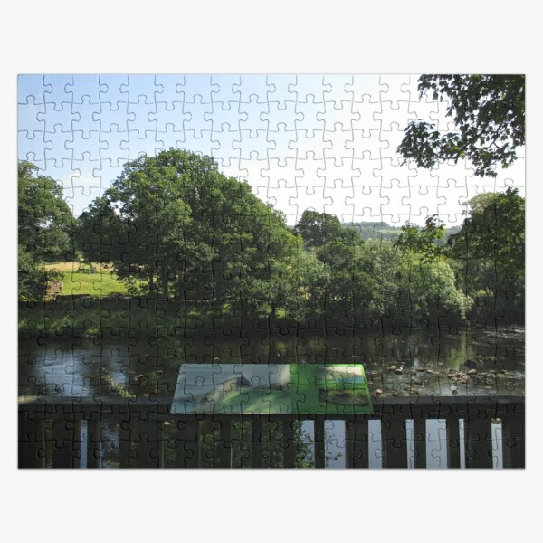 Merch #93 -- Chesters Bridge Board - Distant Shot (Hadrian's Wall) Jigsaw Puzzle