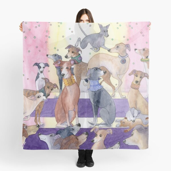 Who let the pups out at the new neckwear for whippets and greyhounds fashion parade? Scarf