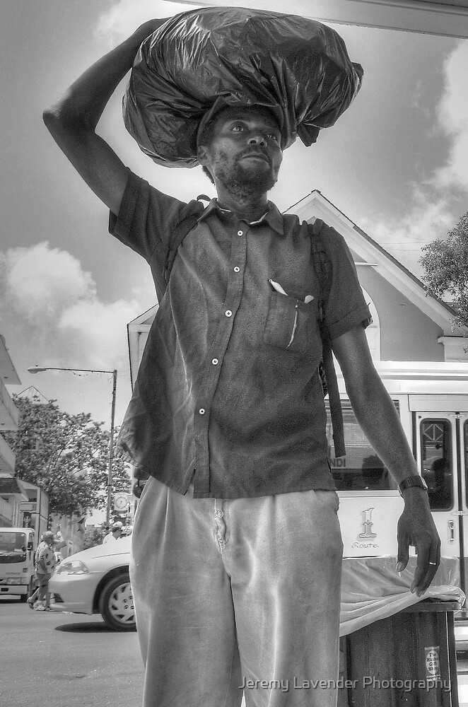 The Guy with a Plastic Bag - Downtown Nassau, The Bahamas by Jeremy Lavender Photography