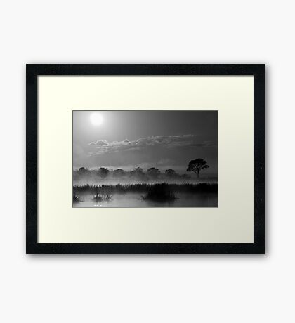 Old Autumn in the Misty Morn Framed Print