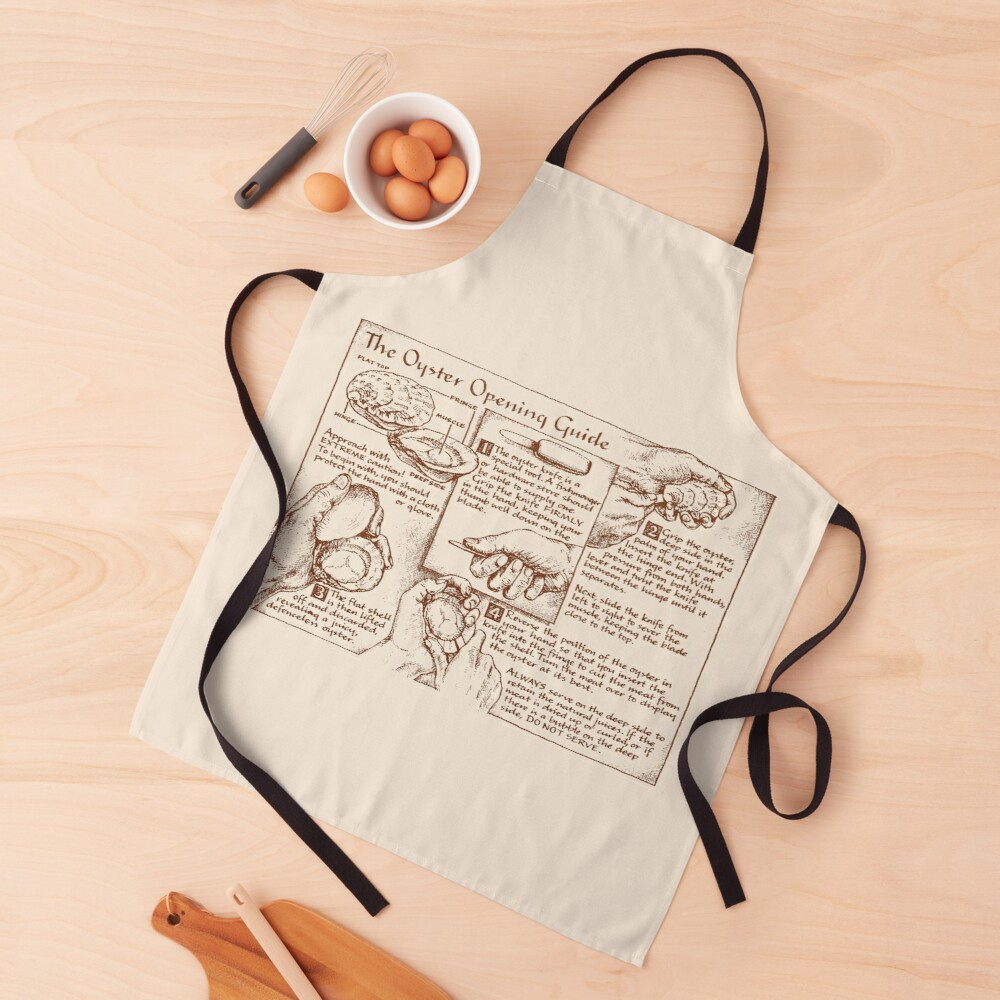 Oyster Opening Guide Apron