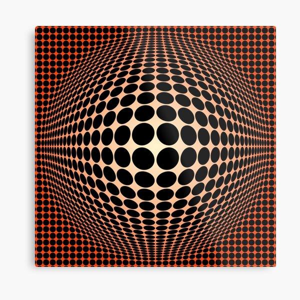 Victor Vasarely Homage 133 Metal Print