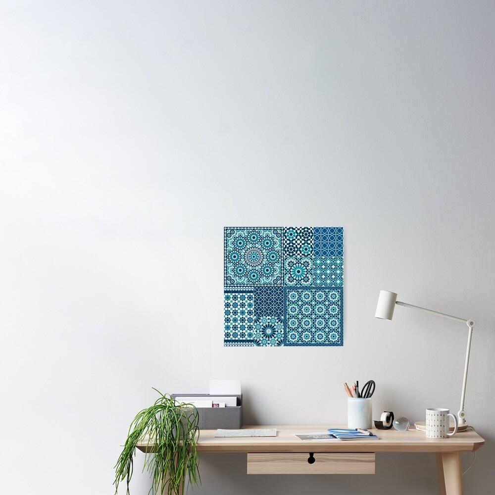 Moroccan tiles 1 Poster