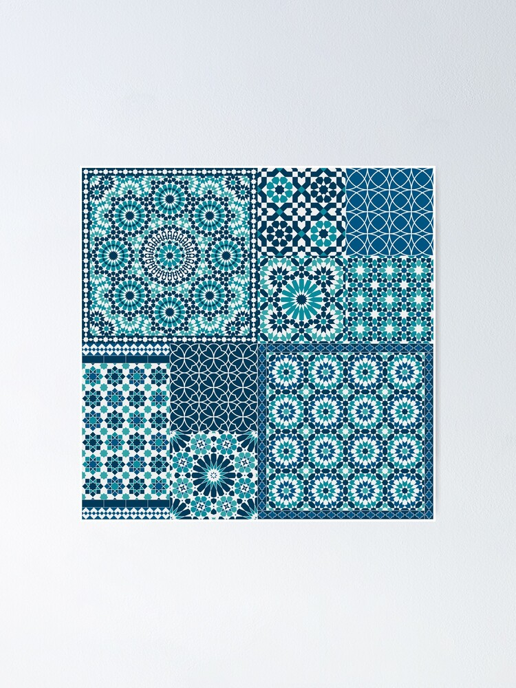 Alternate view of Moroccan tiles 1 Poster