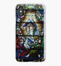 Beautiful stained glass window of Mary  iPhone Case/Skin