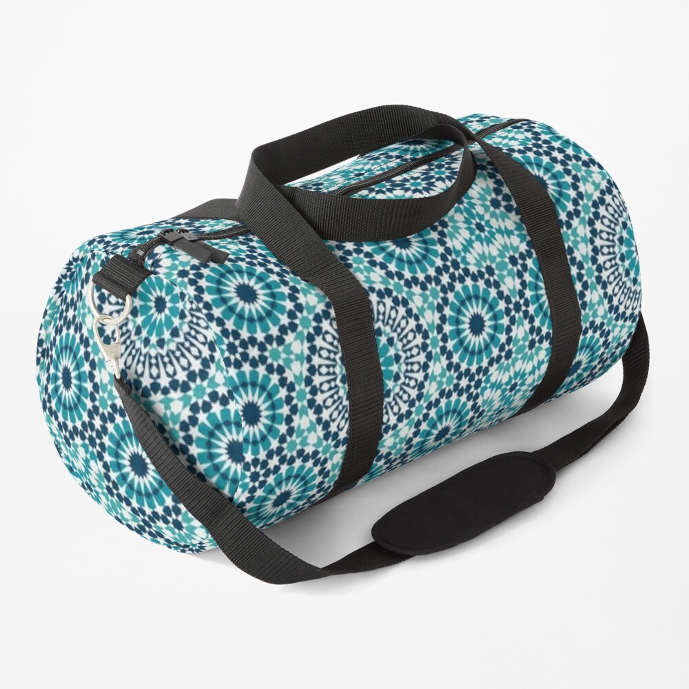 Moroccan tiles 2 Duffle Bag