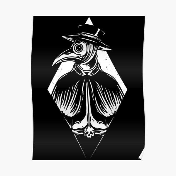Plague Doctor Vintage Tattoo Art Poster
