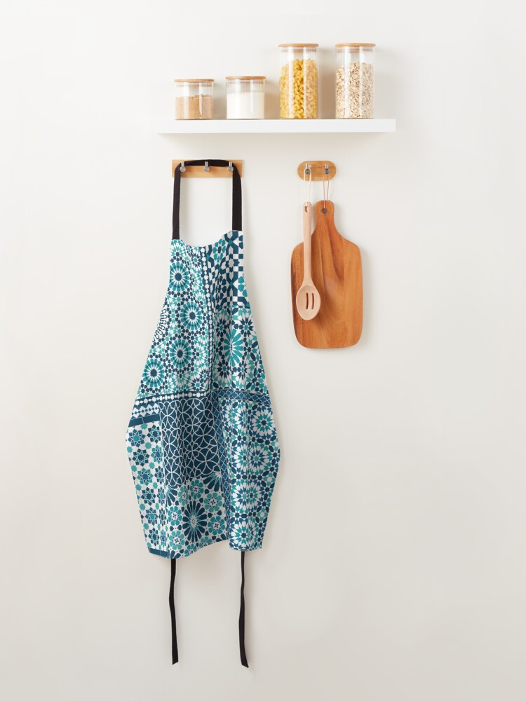 Alternate view of Moroccan tiles 1 Apron
