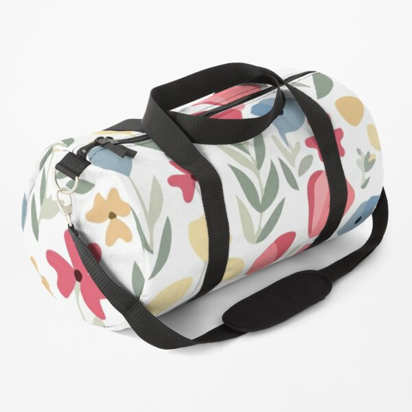 Hand drawn flower pattern Duffle Bag