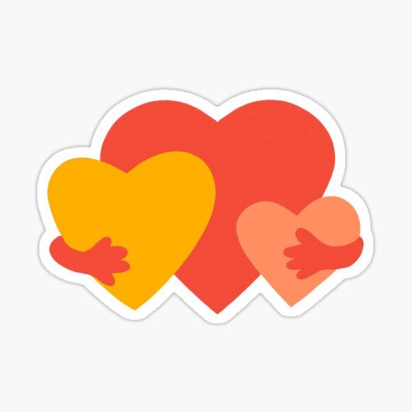 HUGGING HEARTS Sticker