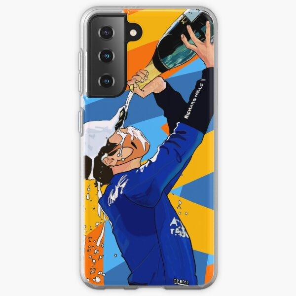 Lando Norris Colorful Austria Podium Funda blanda para Samsung Galaxy