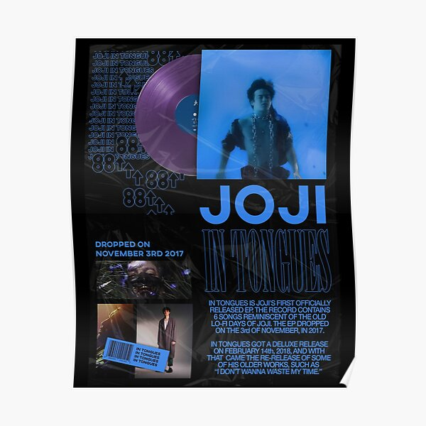 JOJI IN TONGUES POSTER Poster