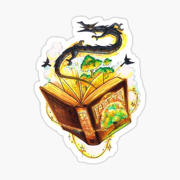 Magical Fantasy Book Sticker